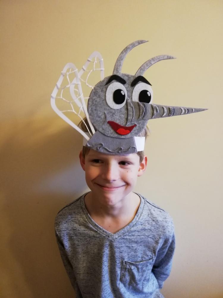 Išskirtinė Uodo kaukė vaikučių šventėms, vaidinimams