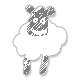Kaklaskarė - Pieno baltumo megzta virbalais