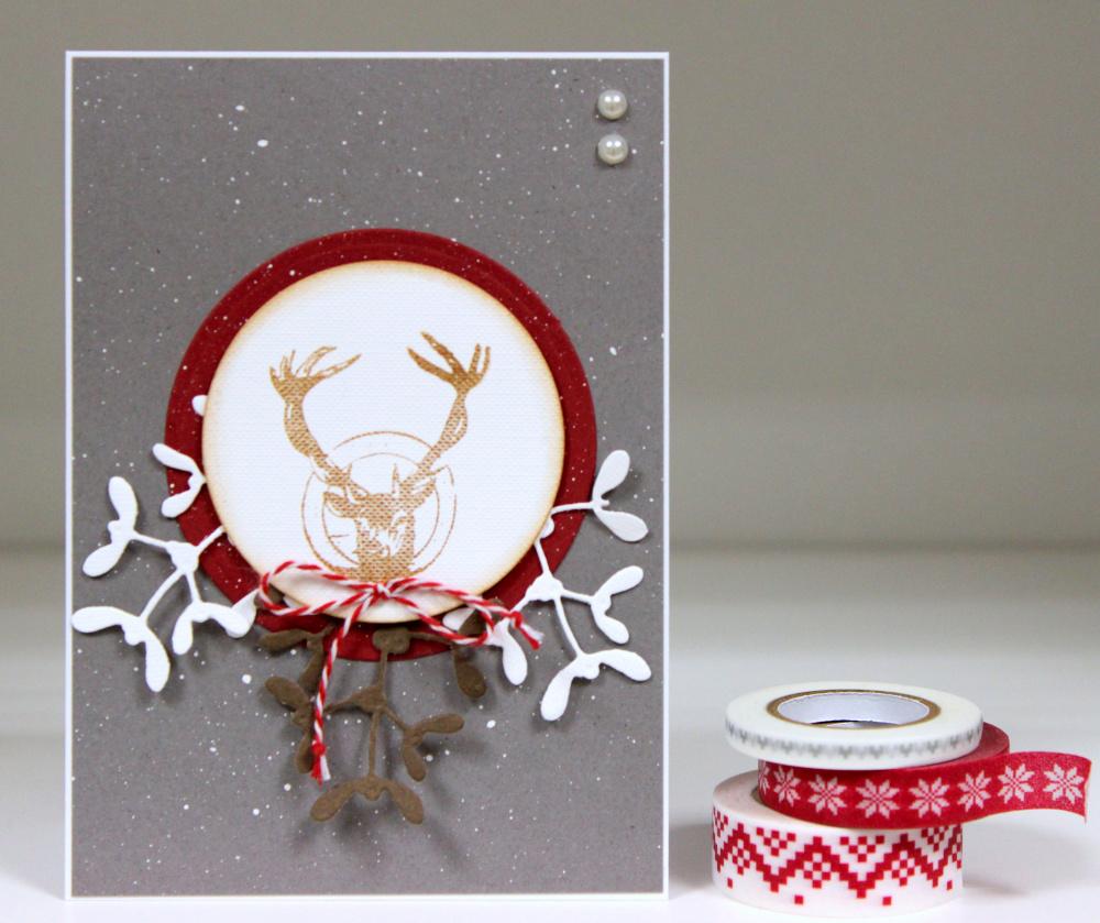 """kalėdinis atvirukas """"briedžio kalėdos"""""""