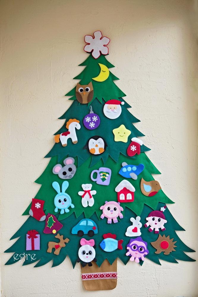 Kalėdų eglutė iš veltinio