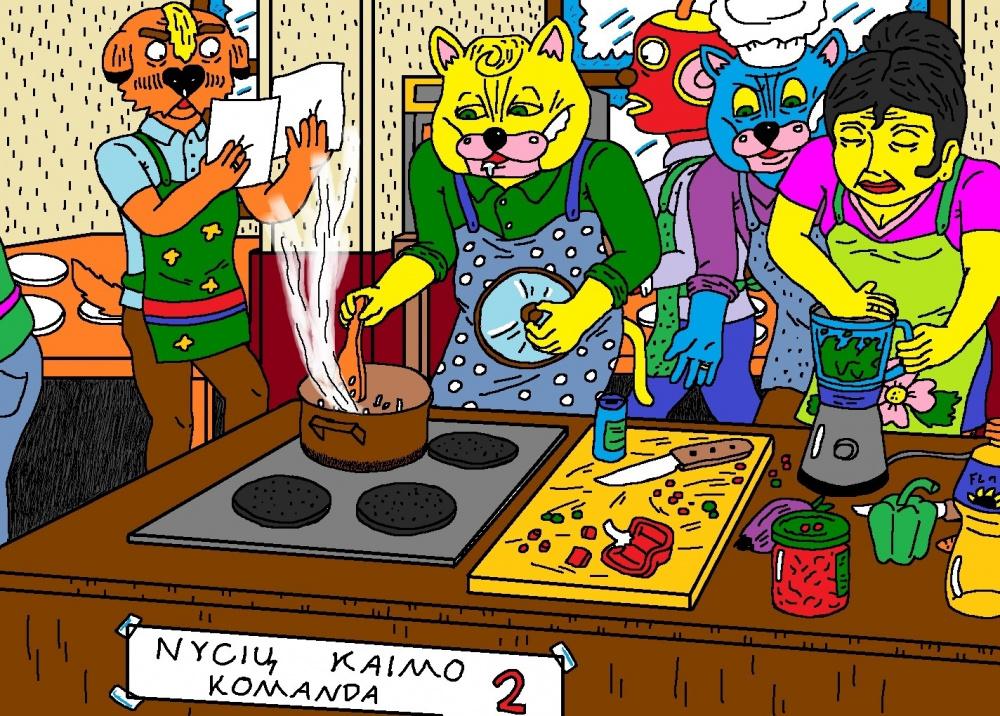 Katinai dalyvavo kulinarinėse varžybose, Kupiškio mieste