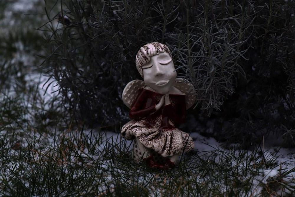 """Keramikos angelas """"Apkabinimų angelas"""""""