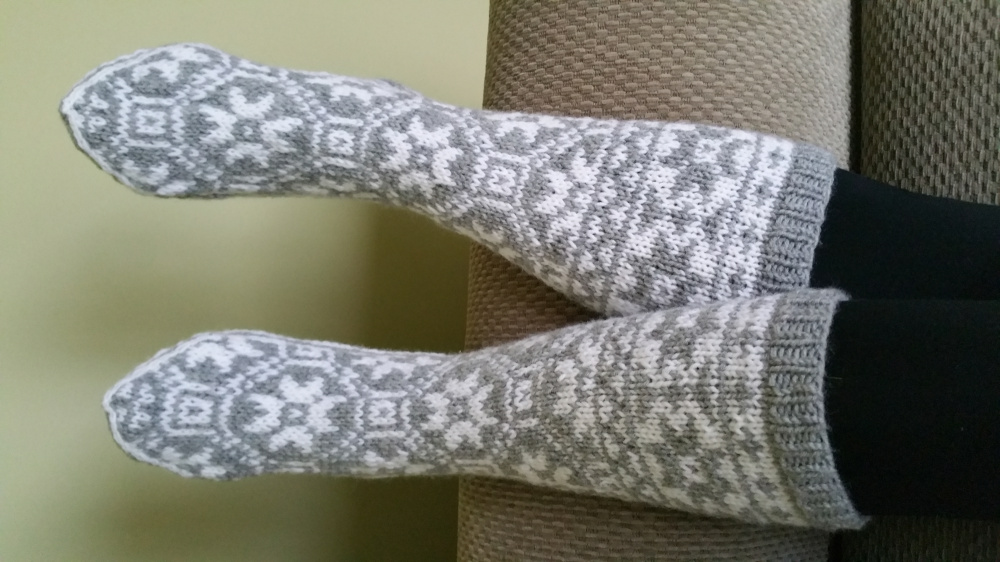 Kojines ,pilka - balta