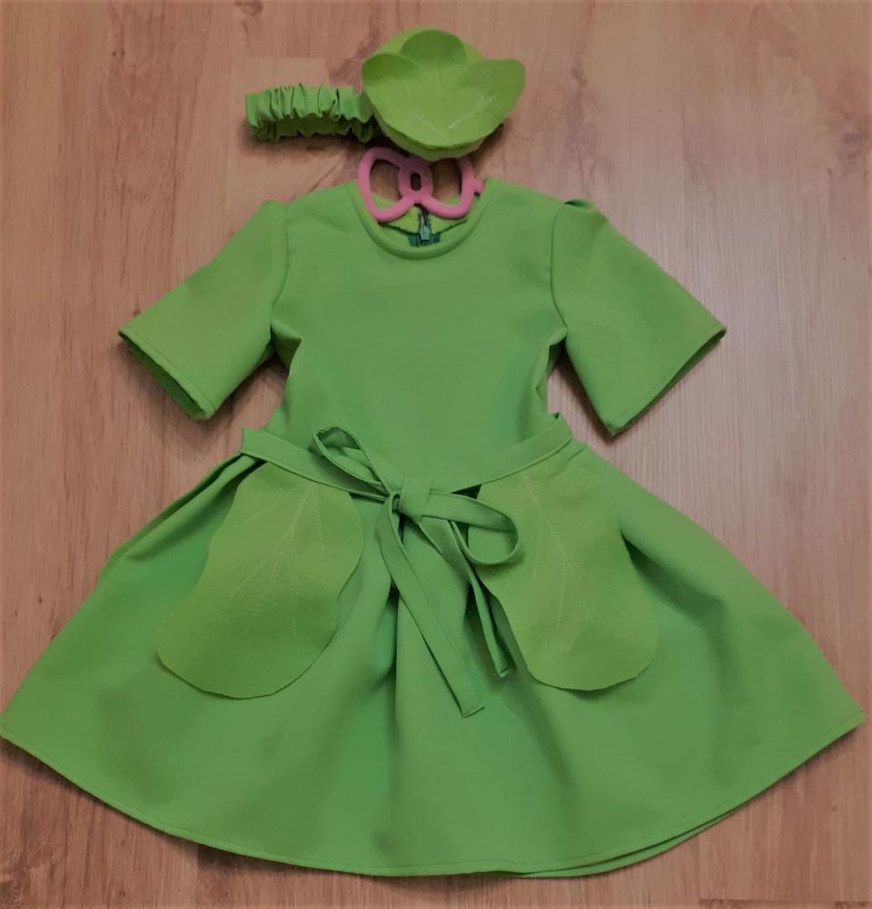 Kopūsto karnavalinis kostiumas mergaitei