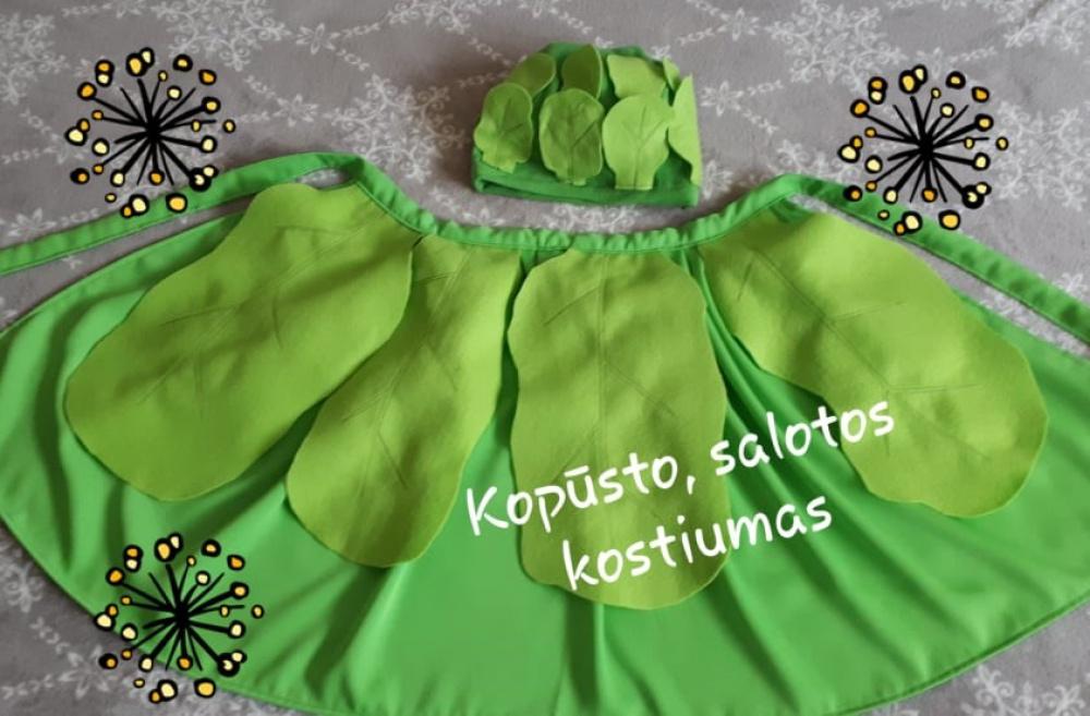 Kopūsto, salotos vaikiškas karnavalinis kostiumas