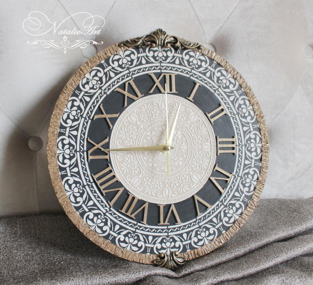 Laikrodis sieninis rudas
