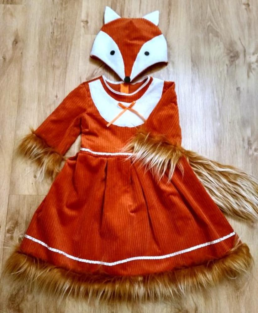 Lapės karnavalinis kostiumas: +-110-116; +-116-122