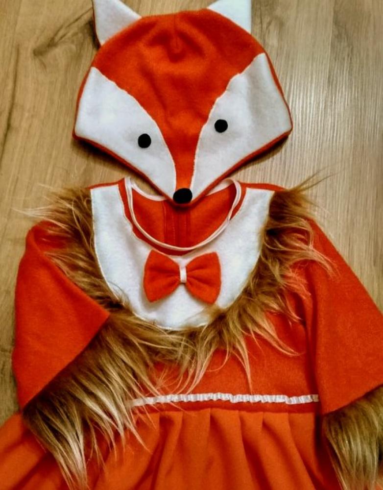 Lapės karnavalinis kostiumas mergaitei **