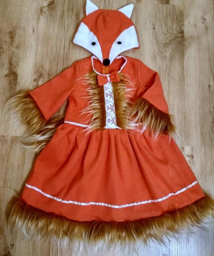 Lapės karnavalinis kostiumas mergaitei 7
