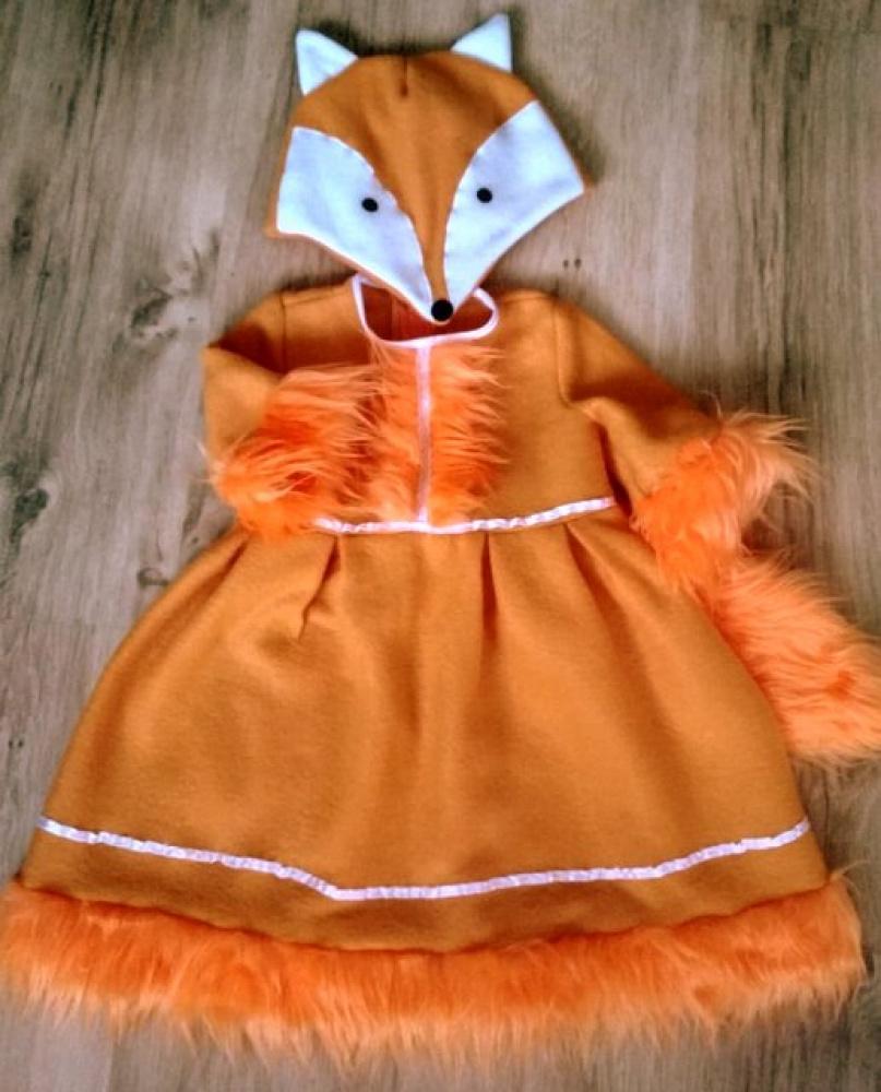 Lapės, laputės karnavalinis kostiumas mergaitei +-104-110cm