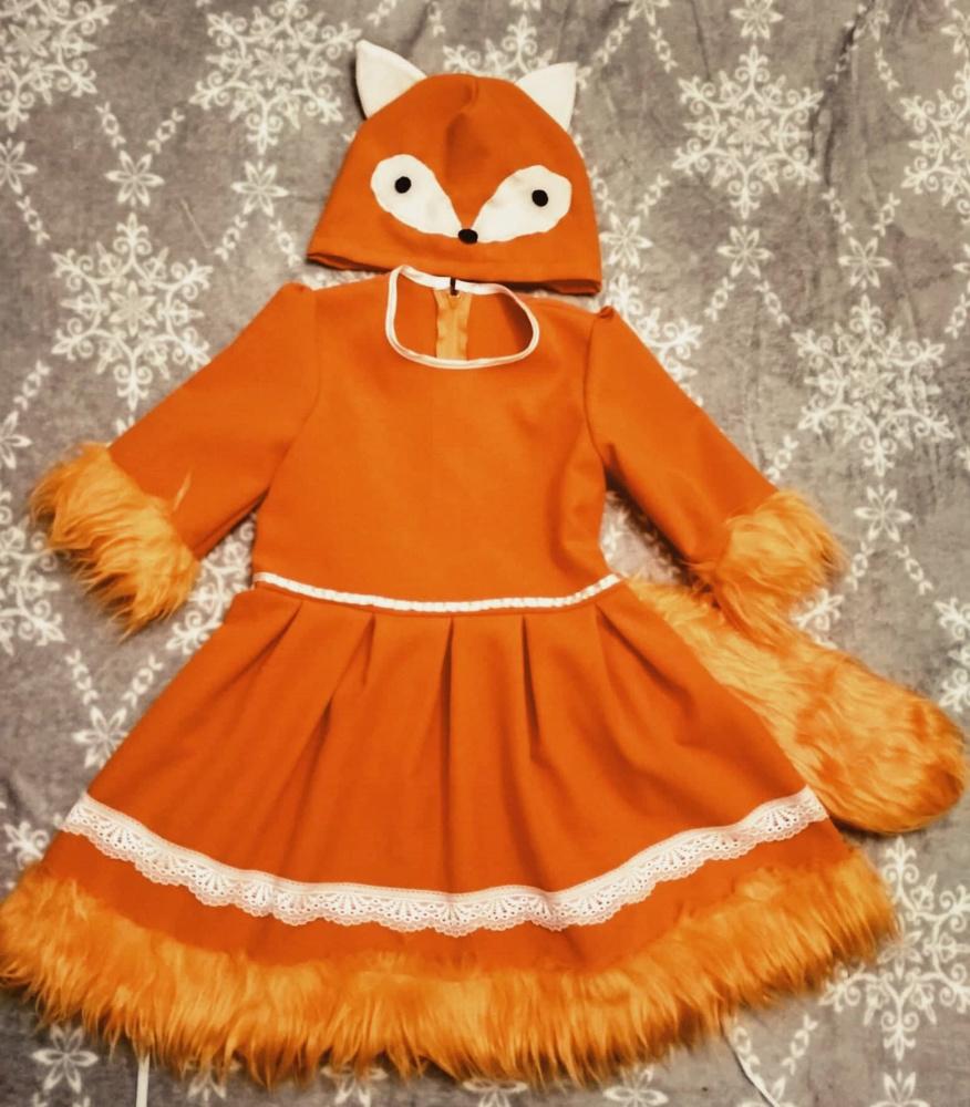 Lapės, laputės karnavalinis kostiumas mergaitei 110-116