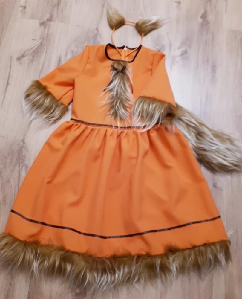 Lapės, laputės karnavalinis kostiumas mergaitei 124-128*