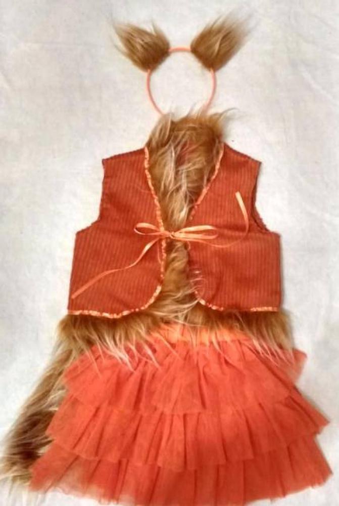 Lapės, laputės karnavalinis kostiumas mergaitei