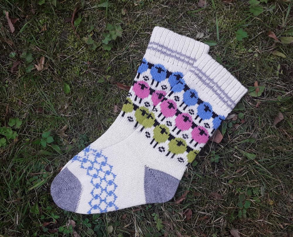 Linksmosios avytės-vilnonės kojinės