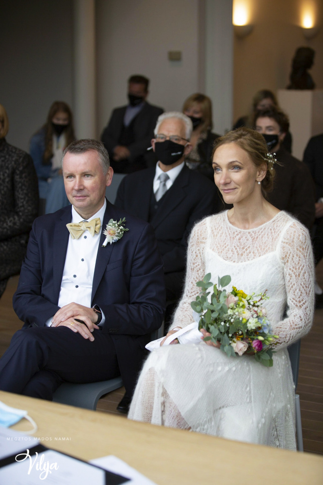 Megzta vestuvinė suknelė