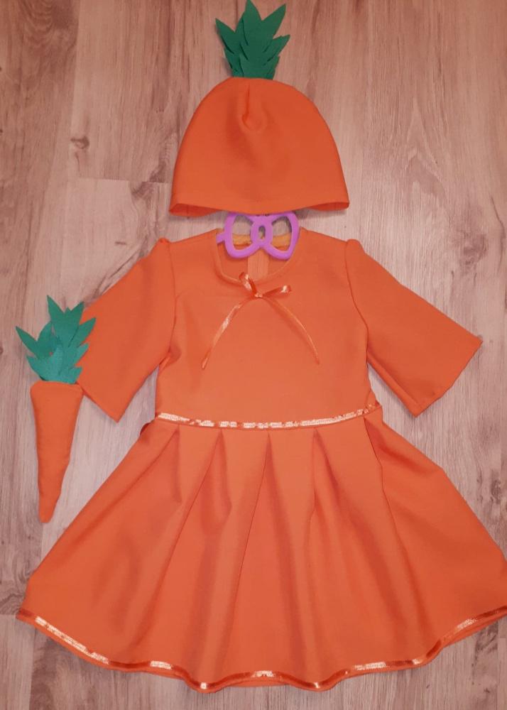 Morkos karnavalinis kostiumas mergaitei su kepure