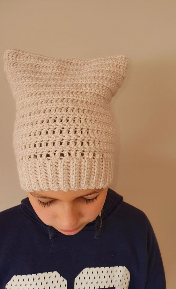 Nerta kepurė mergaitei Pavasaris