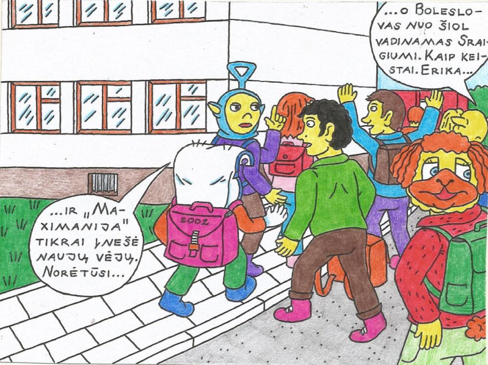 Nyciečių vaikų mokymosi Kupiškio miesto mokykloje pati pradžia, kadaise