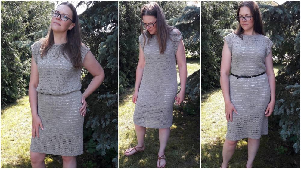 Paprasta medvilninė suknelė