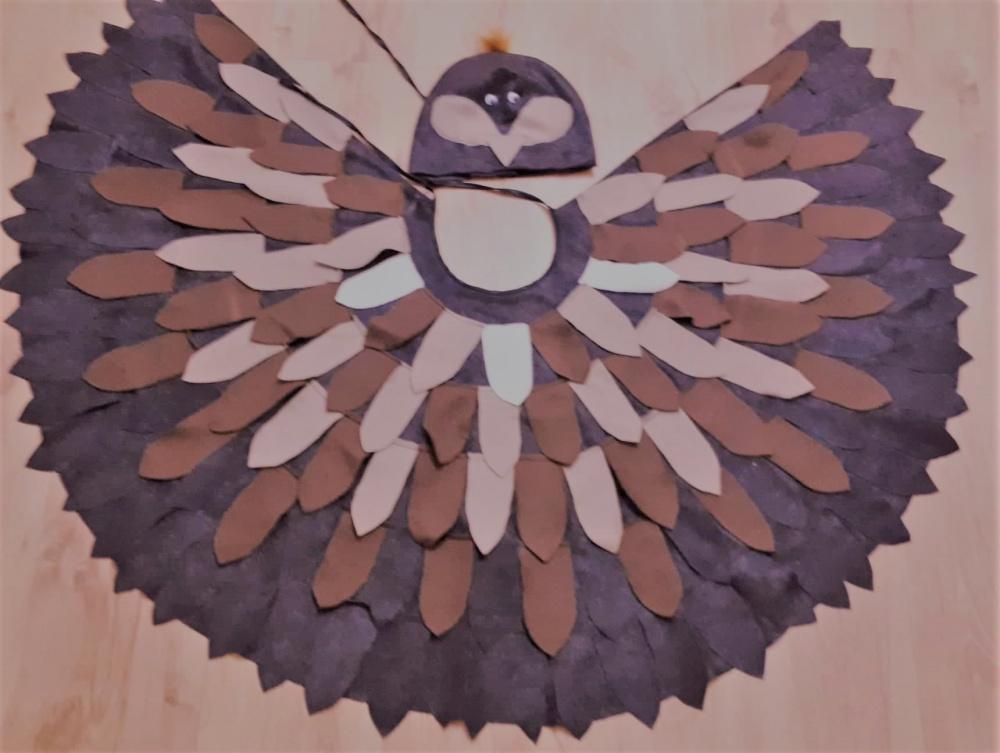 Paukščio, paukščiuko, žvirblio, žvirbliuko kostiumas