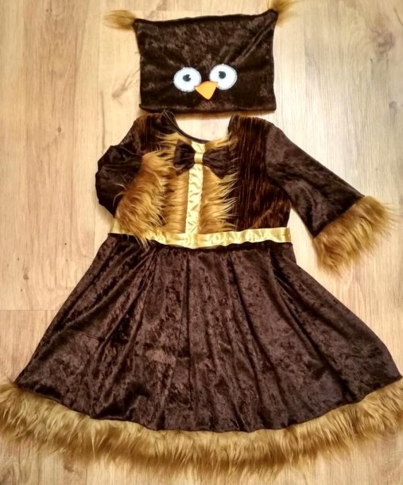 Pelėdos karnavalinis kostiumas mergaitei, +-110-116