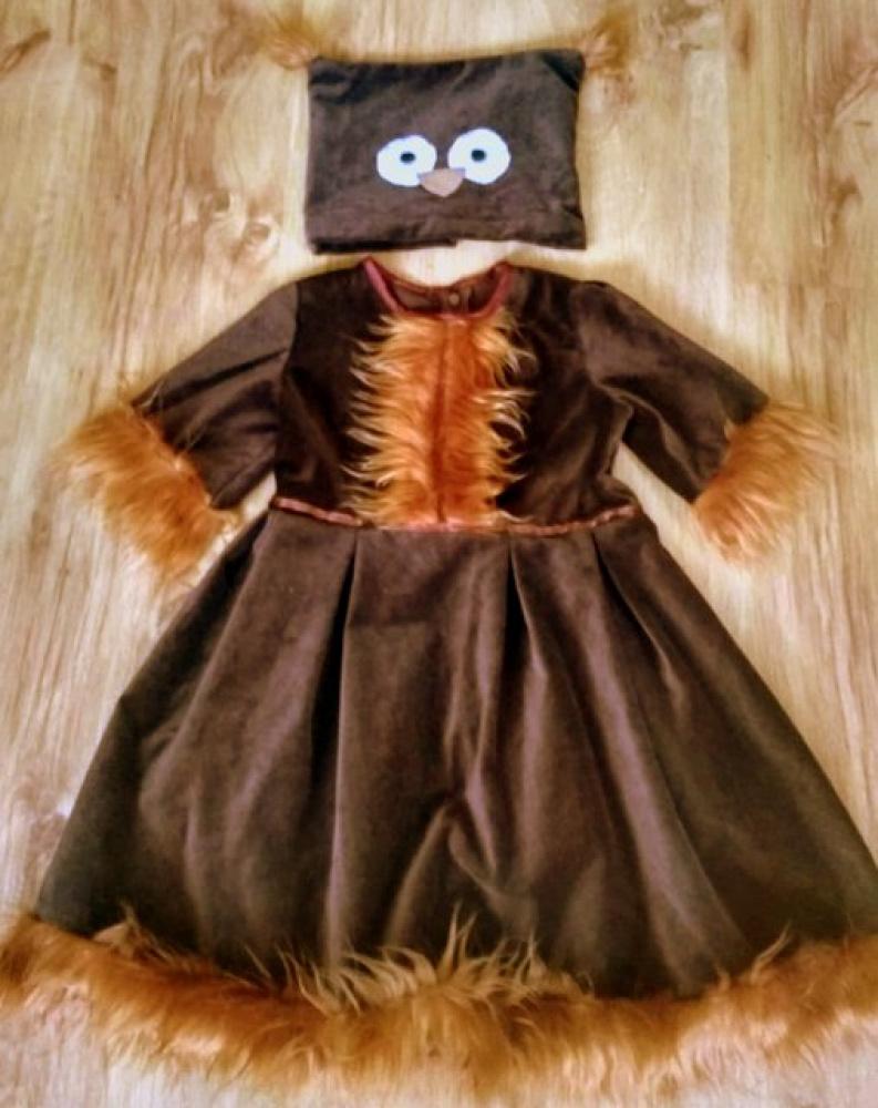 Pelėdos karnavalinis kostiumas mergaitei +-110 -116 cm