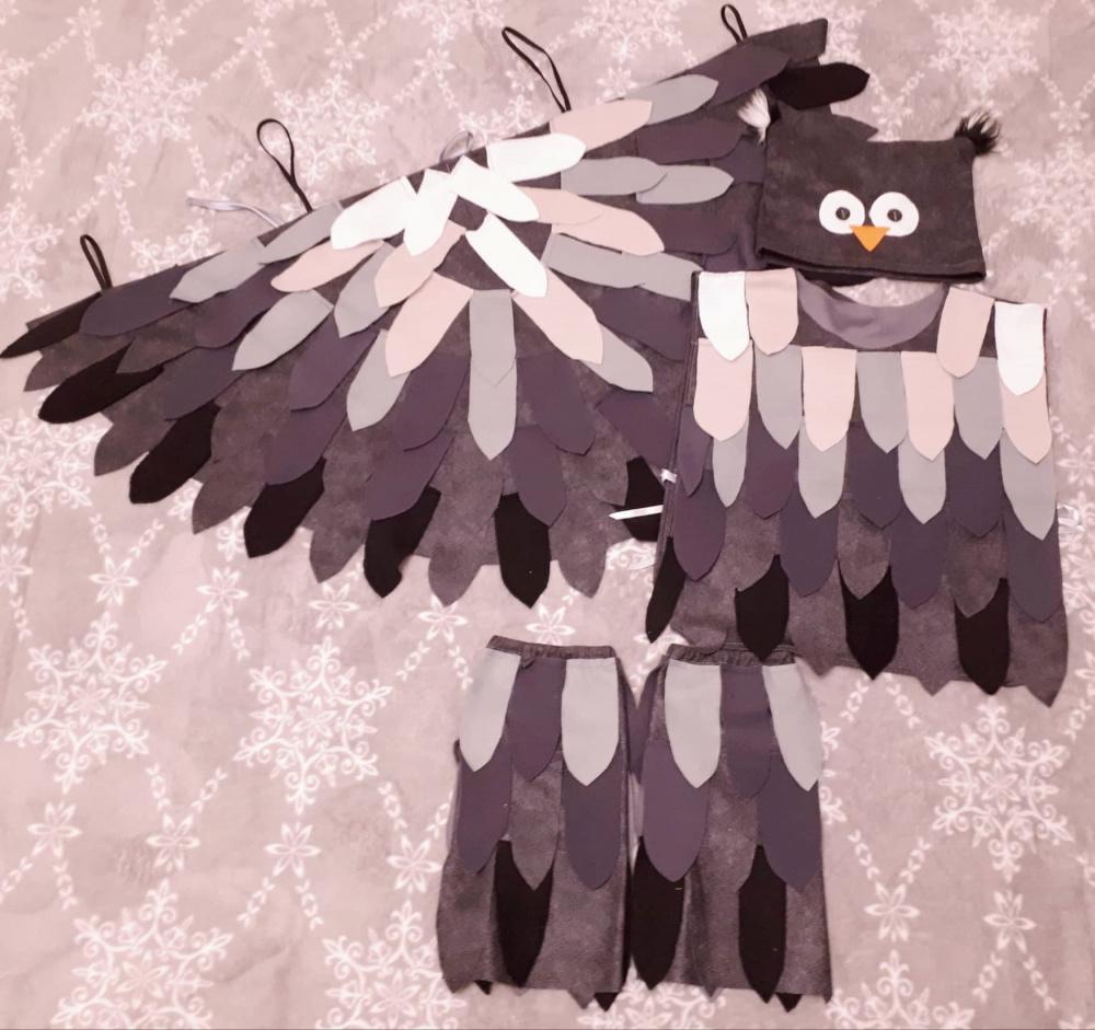 Pelėdžiuko, pelėdos karnavalinis kostiumas vaikams*
