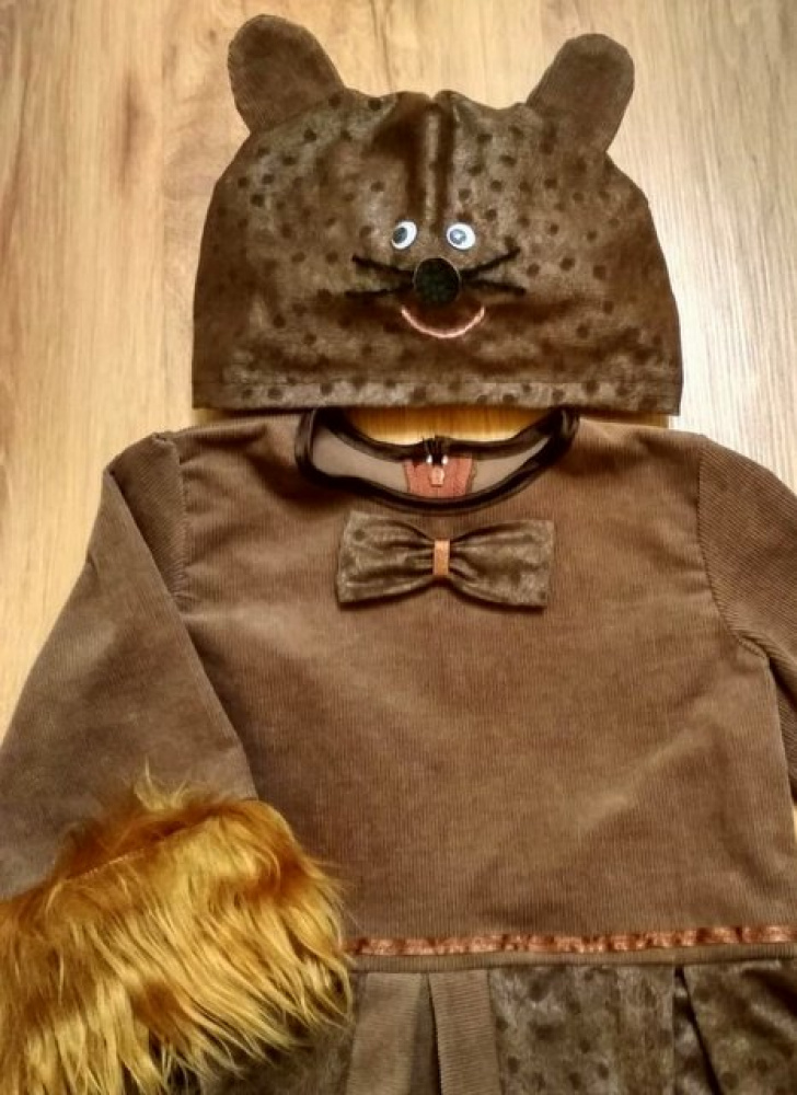 Pelytės, pelės karnavalinis kostiumas mergaitei*