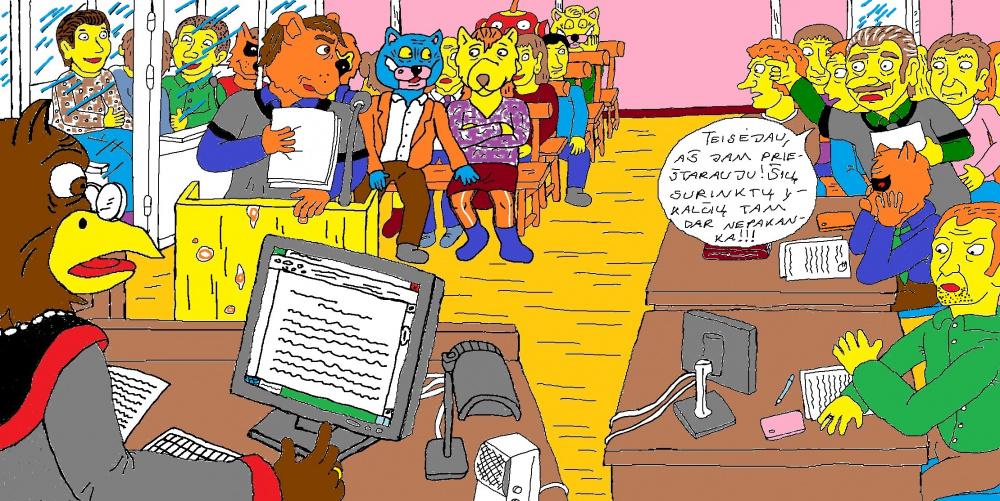 Piknoto ir kitų paauglių teismo posėdis Kupiškyje