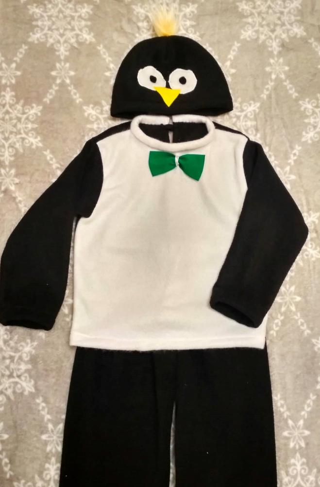 Pingvino, pingvinuko karnavalinis kostiumas