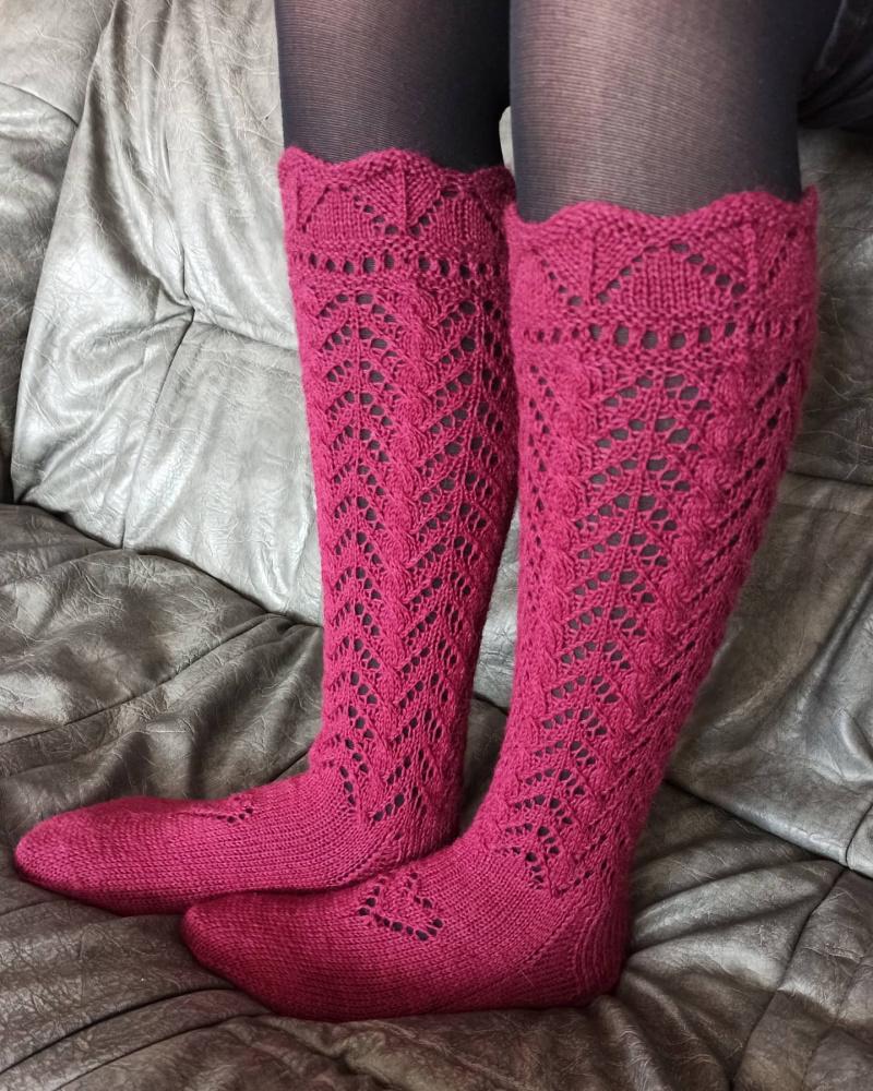 Plonos kiauraraštės kojinės