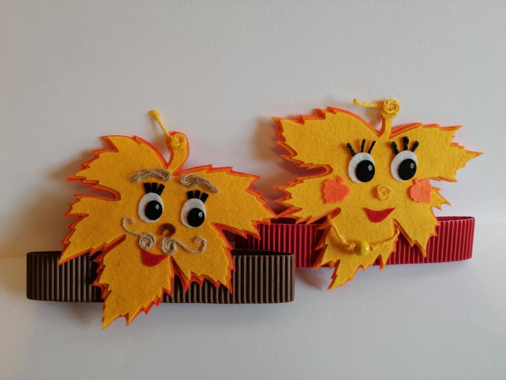 Rudeninių lapelių kaukės - karūnos