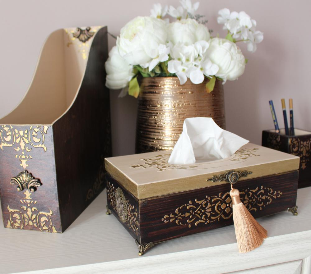 Servetėlių dėžutė medinė