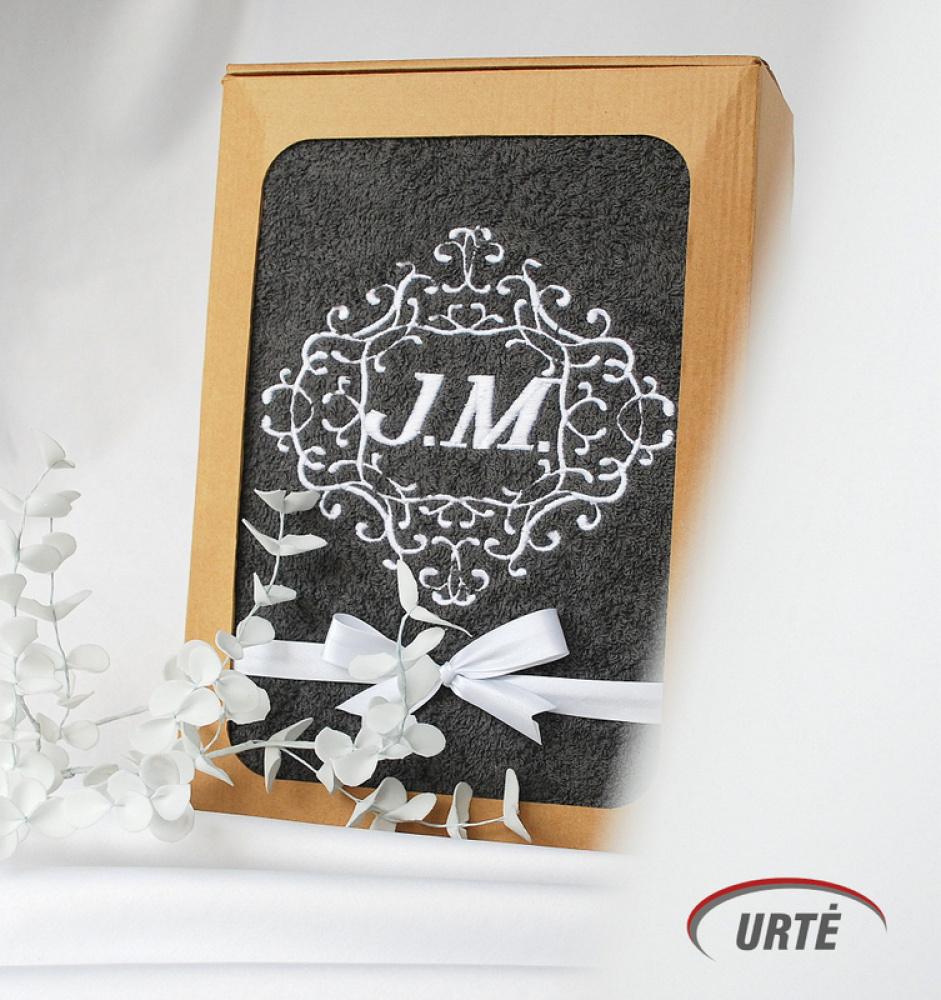 Siuvinėti rankšluosčiai su inicialais - Dovana porai