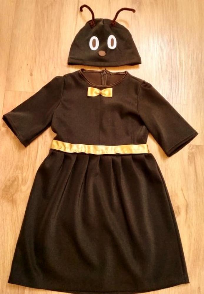 Skruzdėlės, skruzdėlytės, vabalo, vabaliukės karnavalinis kostiumas mergaitei