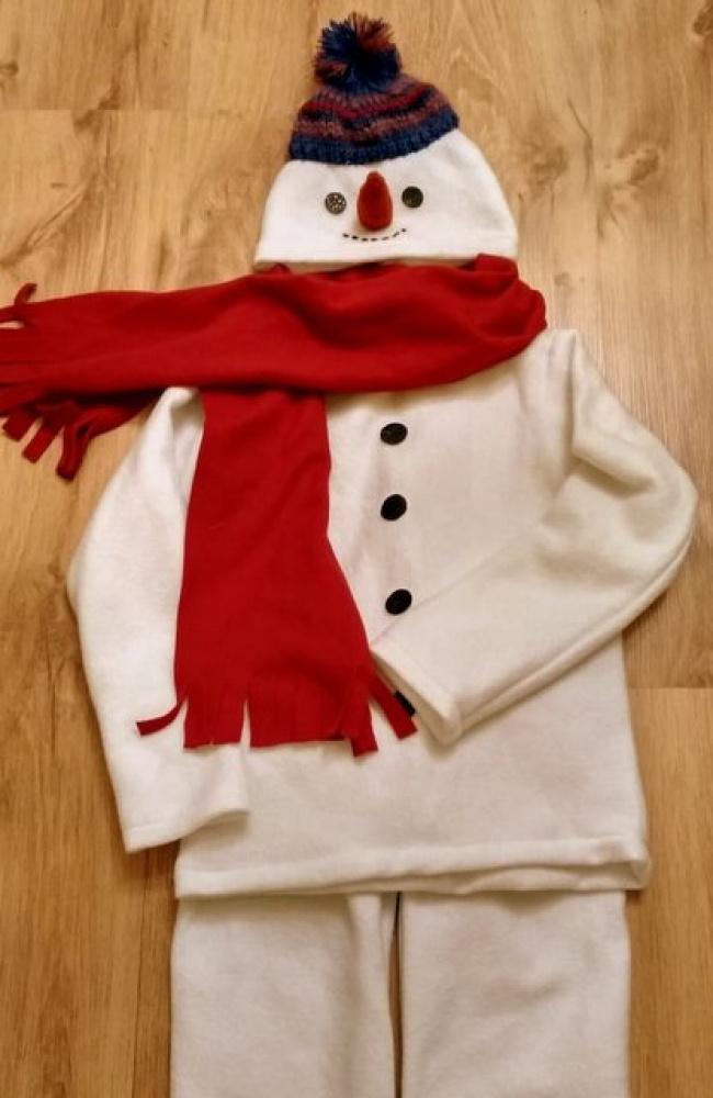 Sniego senio, besmegenio vaikiškas karnavalinis kostiumas*