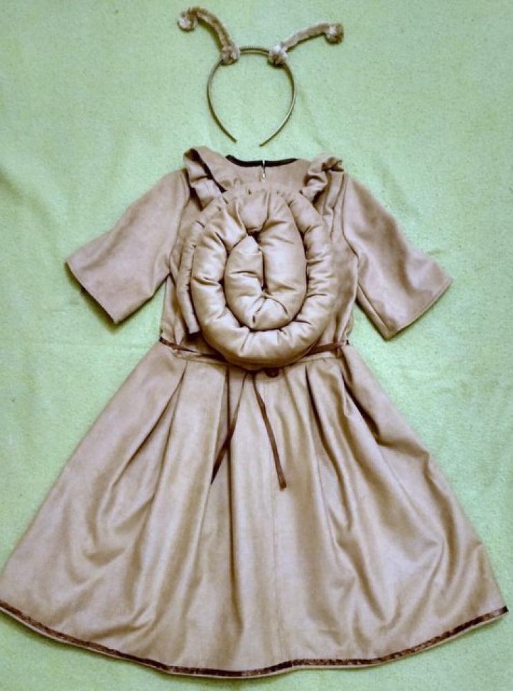 Sraigės karnavalinis kostiumas mergaitei