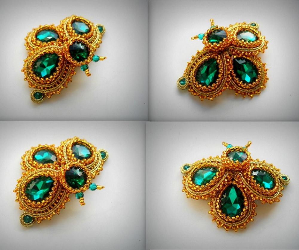 sutažo sagė vabaliukas emerald