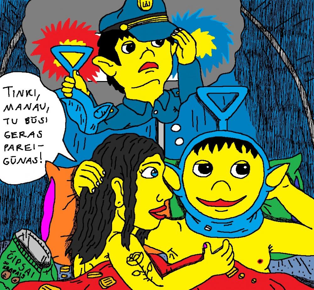 Tinkis Vinkis po mokyklos baigimo svajojo apie policininko profesiją