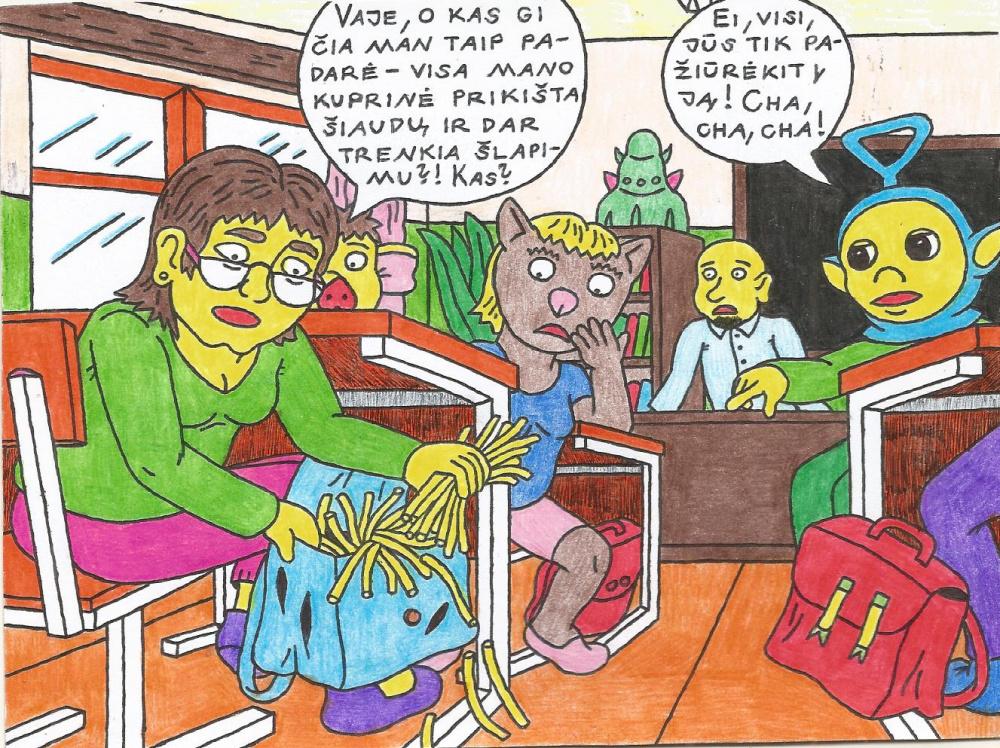 Toks kadaise, mokykloje buvo Tinkio Vinkio kerštas klasiokei Ingridai
