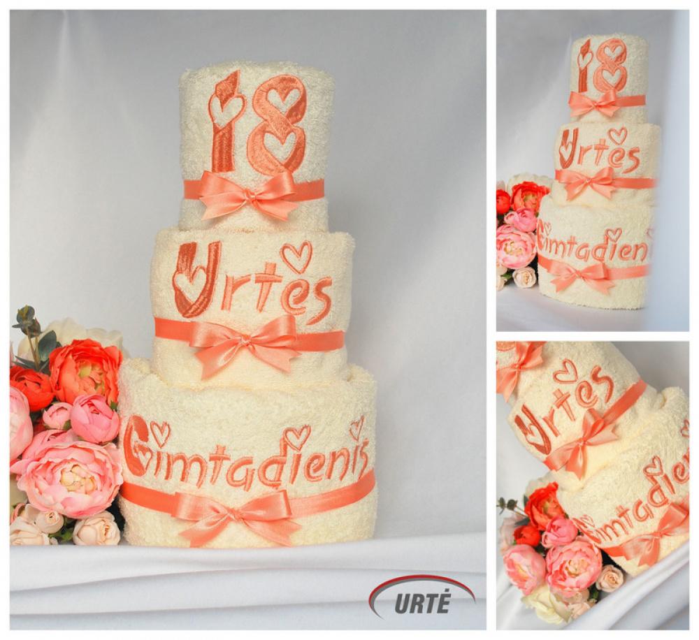 Tortas iš rankšluosčių - Aštuonioliktam gimtadieniui