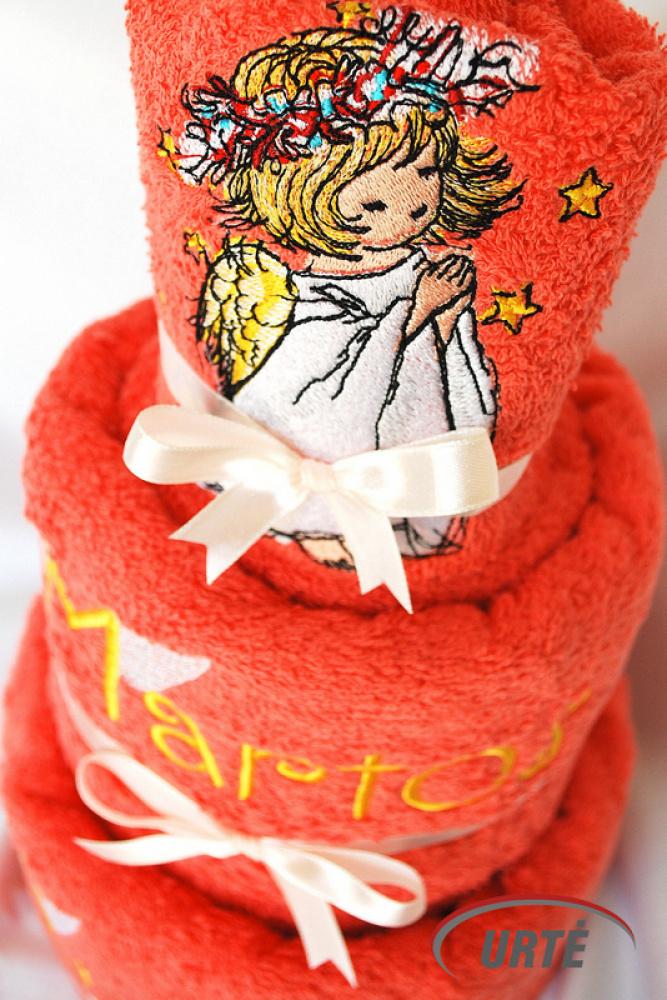 Tortas iš rankšluosčių - pirmos komunijos ar krikštynų dovana - mano angelas