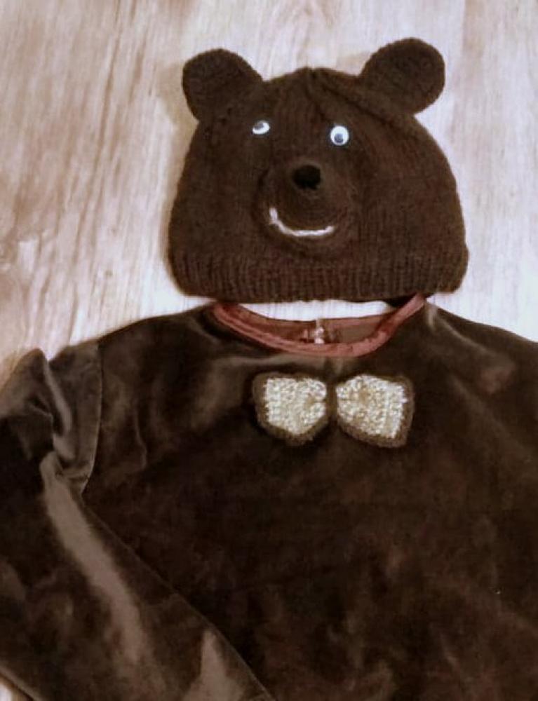 Vaikiškas meškino, lokio karnavalinis kostiumas +-122 -128cm: