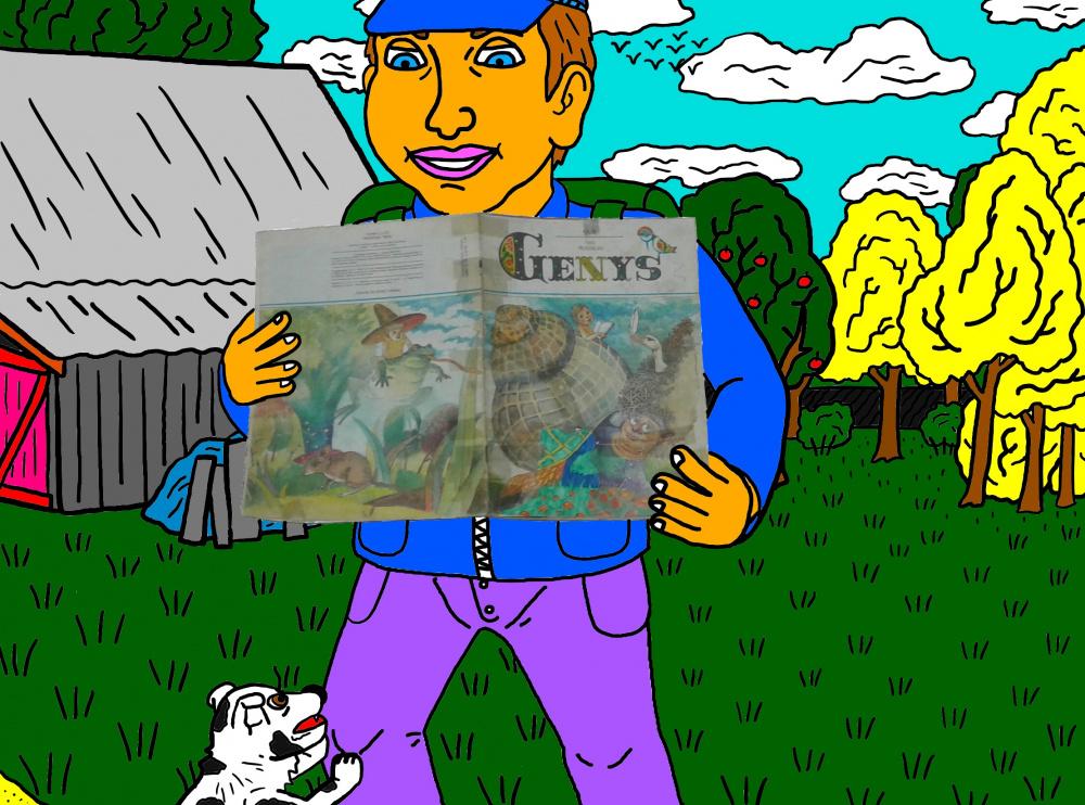 """Vaikystės memuarai, susiję su žurnalu """"Genys"""" 28"""