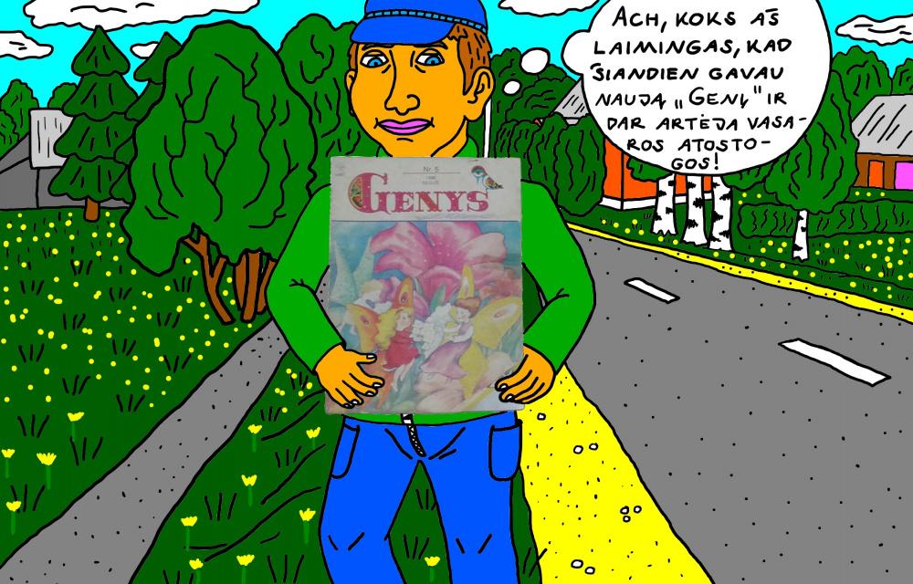"""Vaikystės memuarai, susiję su žurnalu """"Genys"""" 35"""