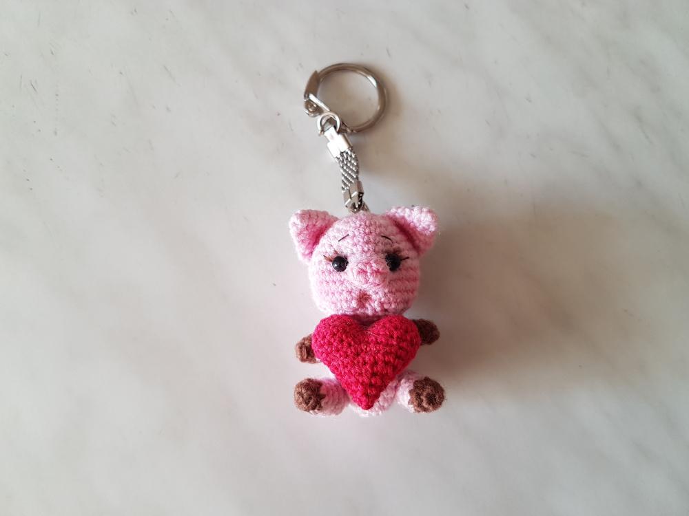 Valentino raktų pakabukas su Piggy Heart