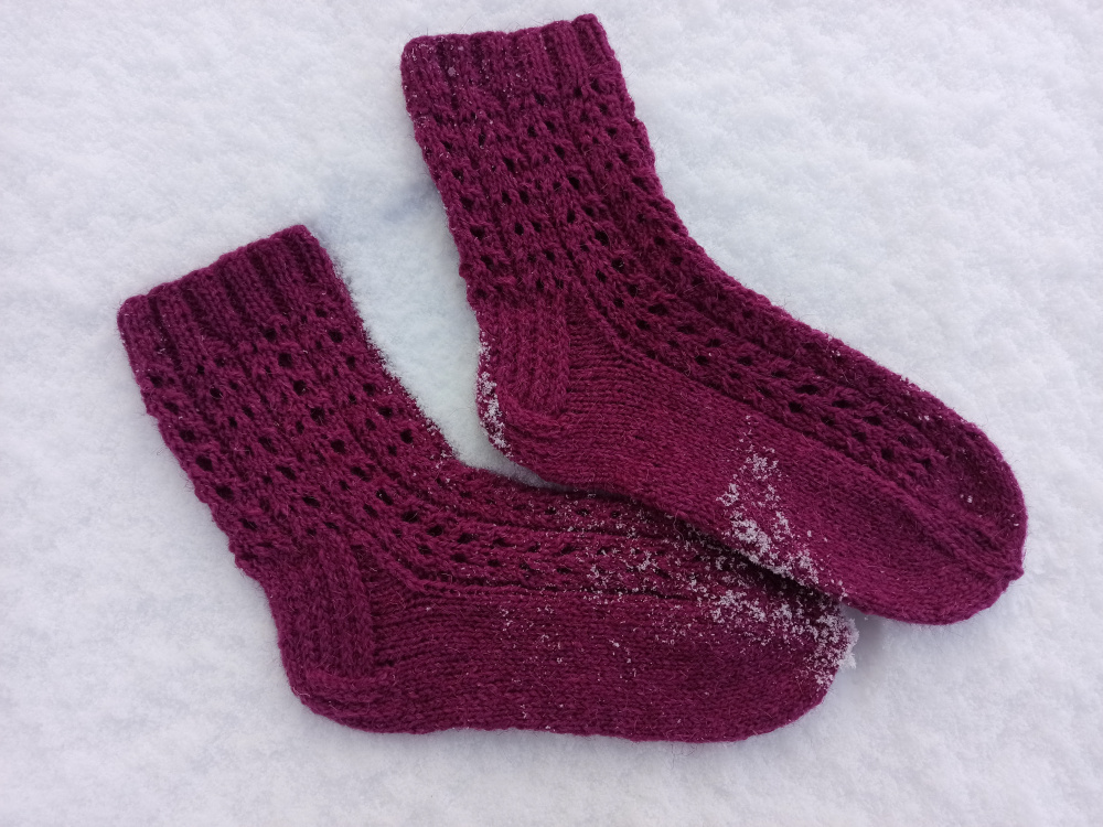 Violetinės kojinės