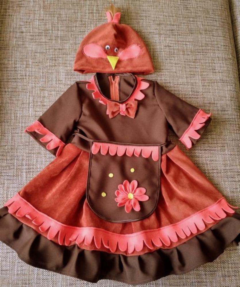Vištytės, viščiuko, vištos karnavalinis kostiumas mergaitei*