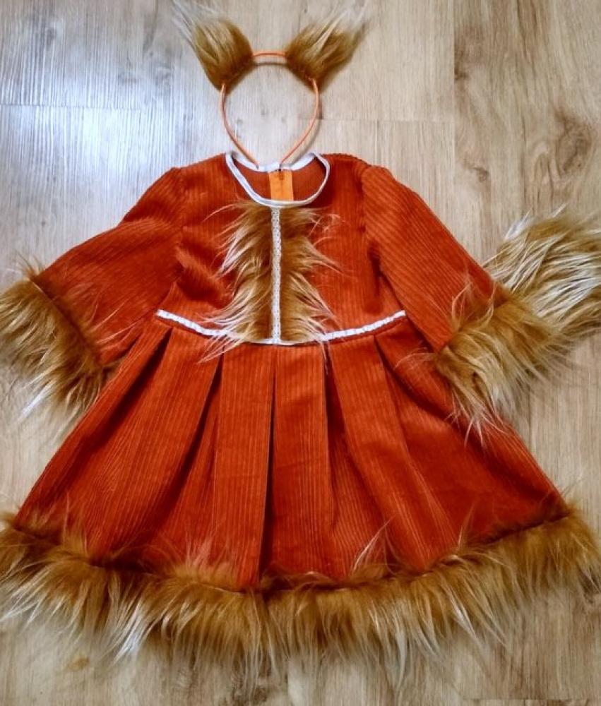 Voverės, voveraitės karnavalinis kostiumas mergaitei: +-100-106cm