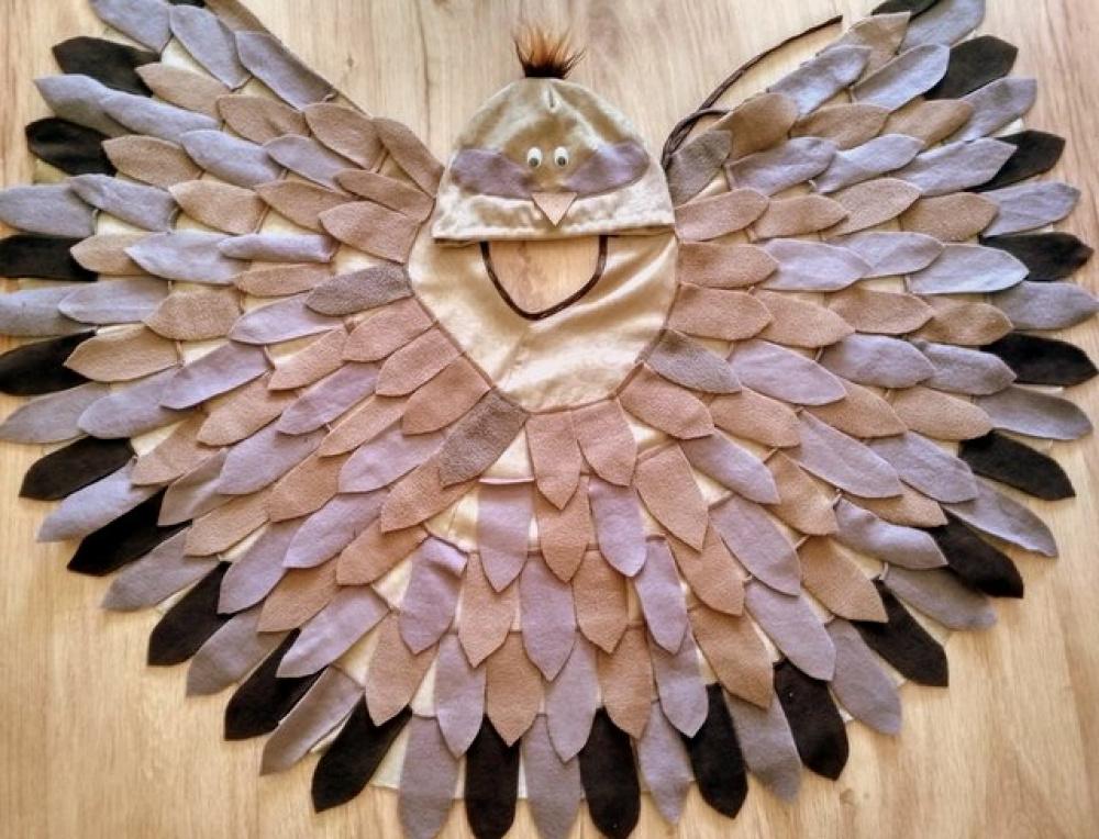 Vyturio, vieversio, strazdo, paukščio kostiumas